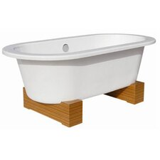 "68"" x 34"" Contemporary Cast Iron Bathtub"