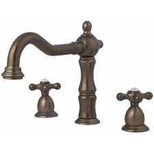Double Handle Deck Mount Roman Tub Faucet Trim Cross Handle