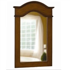 "Single 36"" Portrait Mirror in Aged Walnut"