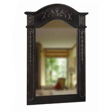 "<strong>Belle Foret</strong> 36"" H x 24"" W Single Carved Portrait Wall Mirror"