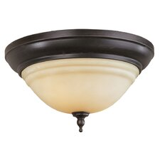 "<strong>Belle Foret</strong> 6"" 2 Light Flush Mount"