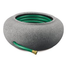 Faux Granite Garden Hose Pot and Planter
