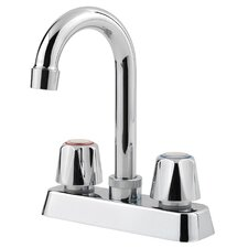 Pfirst Series Two Handle Bar Faucet with Metal Handles