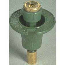 Circle Plastic Pop-Up Sprinkler Head with Brass Nozzle