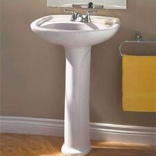"Colony 21"" Pedestal Bathroom Sink"