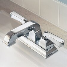 Town Square Centerset Bathroom Faucet with Double Lever Handles