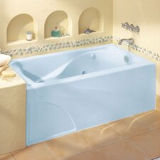 "Cadet 60"" x 32"" Whirlpool Tub with Hydro Massage System l / Integral Apron and Right Hand Outlet"