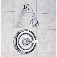 Hampton Diverter Shower Faucet Trim Kit with Porcelain Cross Handle