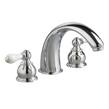 Hampton Double Handle Deck Mount Crescent Tub Only Faucet Trim