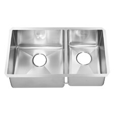 "<strong>American Standard</strong> Prevoir 35"" x 18"" Stainless Steel Undermount Combo Double Bowl Kitchen Sink"