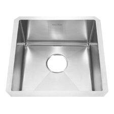 "Prevoir 17"" x 17"" Stainless Steel Undermount Single Bowl Kitchen Sink"