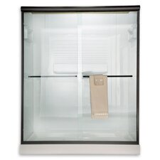 Euro Frameless Bypass Shower Door with Rain Glass