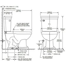 Standard Right Height 1.6 GPF Elongated 2 Piece Toilet