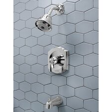 Portsmouth Flowise Diverter Shower Faucet Trim Kit with Lever Handle