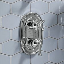 <strong>American Standard</strong> Portsmouth Central Thermostatic Shower Faucet Trim Kit with Cross Handle