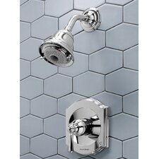 Portsmouth Flowise Volume Shower Faucet Trim Kit with Lever Handle