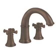 Portsmouth 2 Cross Handle Deck Mount Roman Tub Faucet
