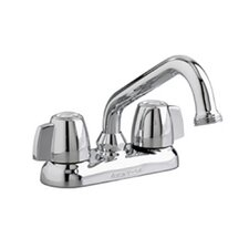Deck Mounted Laundry Faucet with Aerated End Spout and Double Knob Handle