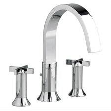 Berwick Double Handle Deck Mount Tub Only Faucet Cross Handle