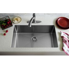 "31"" x 20"" Undermount Single Bowl Kitchen Sink"