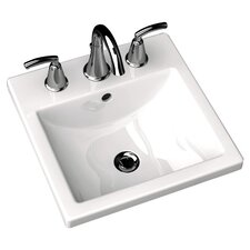 <strong>American Standard</strong> Studio Carre Countertop Bathroom Sink with Center Hole