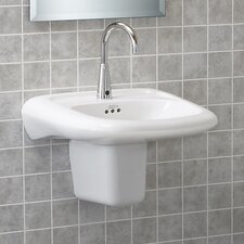 Murro Wall-Hung Bathroom Sink with Center Hole
