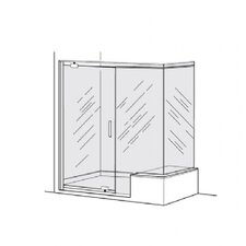 Euro Frameless Pivot Door Panel With 90% Return Panel