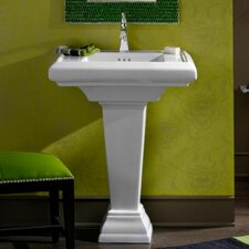 "Town Square 24"" Pedestal Bathroom Sink"