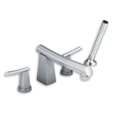 Green Tea Double Handle Deck Mount Tub Only Faucet with Hand Shower