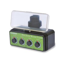 Dual Station Water Timer in Green / Black