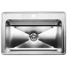 "Magnum 33"" x 22"" Single Bowl Drop-In Kitchen Sink"