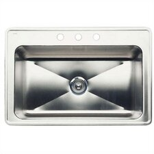 "Magnum 33"" x 22"" Large Single Bowl Drop-In Kitchen Sink"
