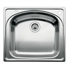 "Wave 25"" x 22"" Single Bowl Drop-In Kitchen Sink"