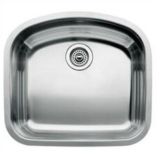 "Wave 22.44"" x 20.47"" Single Bowl Undermount Kitchen Sink"