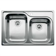 "Supreme 33"" x 22"" Bowl Drop-In Kitchen Sink"