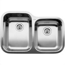 "Supreme 31.31"" x 20.88"" x 8"" Bowl Undermount Kitchen Sink"