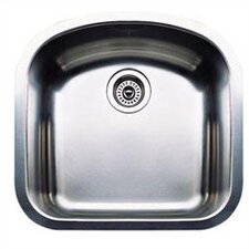 "Wave 20.47"" x 19.69"" x 8"" Plus Single Bowl Undermount Kitchen Sink"