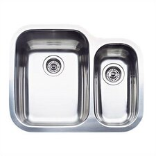 "Supreme 25.75"" x 20.44"" Bowl Double Single Undermount Kitchen Sink"
