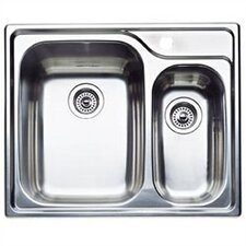 "Supreme 26.5"" x 22"" Bowl Double Single Drop-In Kitchen Sink"