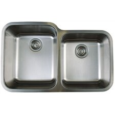 "Stellar 32.33"" x 20.5"" Double Bowl Undermount Kitchen Sink"