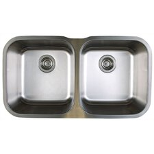 "<strong>Blanco</strong> Stellar 33.33"" x 18.5"" Equal Double Bowl Undermount Kitchen Sink"
