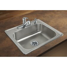 "Spex II 25"" x 22"" Single Bowl Self-Rimming Kitchen Sink"