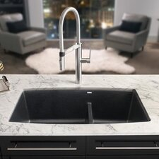 "Performa 33"" x 19"" Silgranit II 1.75 Double Bowl Undermount Kitchen Sink"