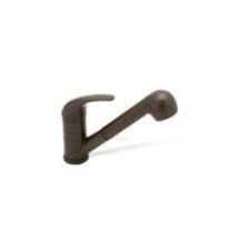 Torino Single Handle Single Hole Jr. Classic Kitchen Faucet with Pullout Spray in Cafe Brown