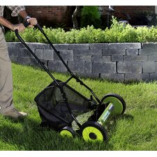 "18"" Manual Reel Mower with Grass Catcher"