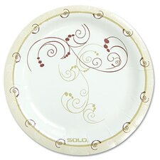 "Symphony 6"" Paper Dinnerware Plate in Tan (Pack of 125)"