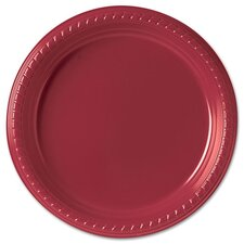 "(500 Per Container) 9"" Red Plastic Plates"