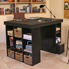 Project Center with Bookcase and 3 Bin Cabinet