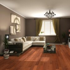 "Elegant Exotic 4-3/4"" Engineered Brazilian Cherry Flooring in Natural"