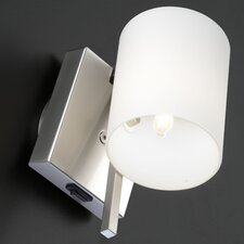 <strong>Studio Italia Design</strong> Minimania 1 Light Wall or Ceiling Fixture with Blown Glass Diffuser and On-Off Switch